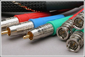 VPX Pro Series 3 cables are available with RCA and BNC connectors.